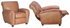 "Baxter ""Designer Style"" Leather Cigar Chair Recliner"