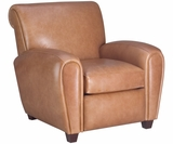 Baxter Leather Cigar Furniture Recliner Chair