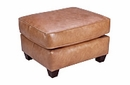 "Baxter ""Designer Style"" Leather Ottoman"