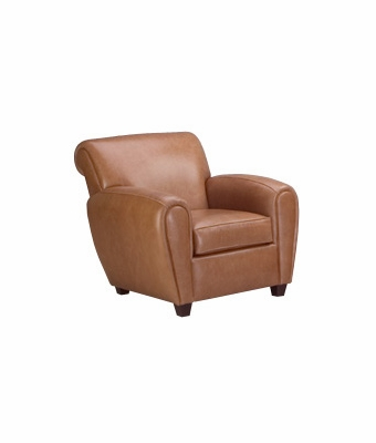 "Baxter ""Designer Style"" Parisian Style Leather Club Chair"