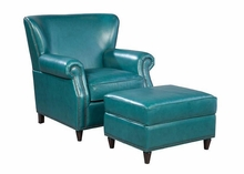 "Beaumont ""Quick Ship"" Tight Back Leather Accent Chair"
