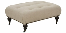 Belle Fabric Upholstered Oversized Ottoman