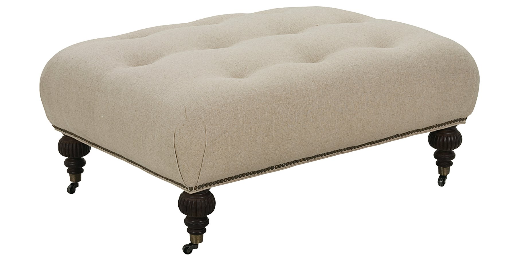 Fabric Oversized Ottoman With Tufting | Club Furniture
