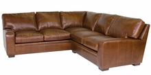 Benjamin Contemporary Leather Sectional