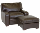 "Benjamin ""Designer Style"" Saddle Stitched Track Arm Leather Chair w/ Saddle Stitching"