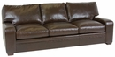 "Benjamin ""Designer Style"" Saddle Stitched Track Arm Leather Loveseat"