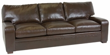 Benjamin Leather Pillow-Back Track-Arm Sofa