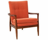Joely Mid-Century Contemporary Fabric Accent Chair