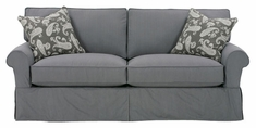 "Bethany ""Designer Style"" 78"" Slipcovered Apartment Sofa"