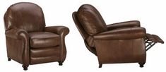 """Blake """"Designer Style"""" Rounded Back Leather Lounge Chair Recliner"""