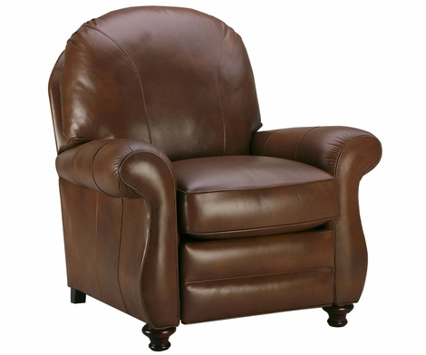 Blake Rounded Back Leather Recliner Lounge Chair