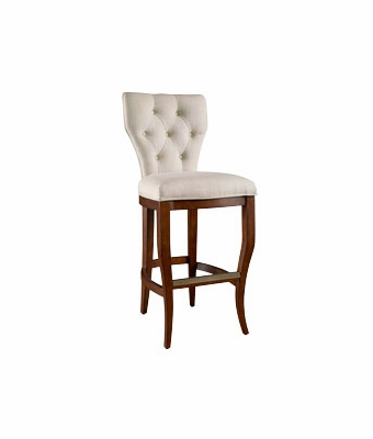 Fabric Tufted Back Counter Height Stool Club Furniture