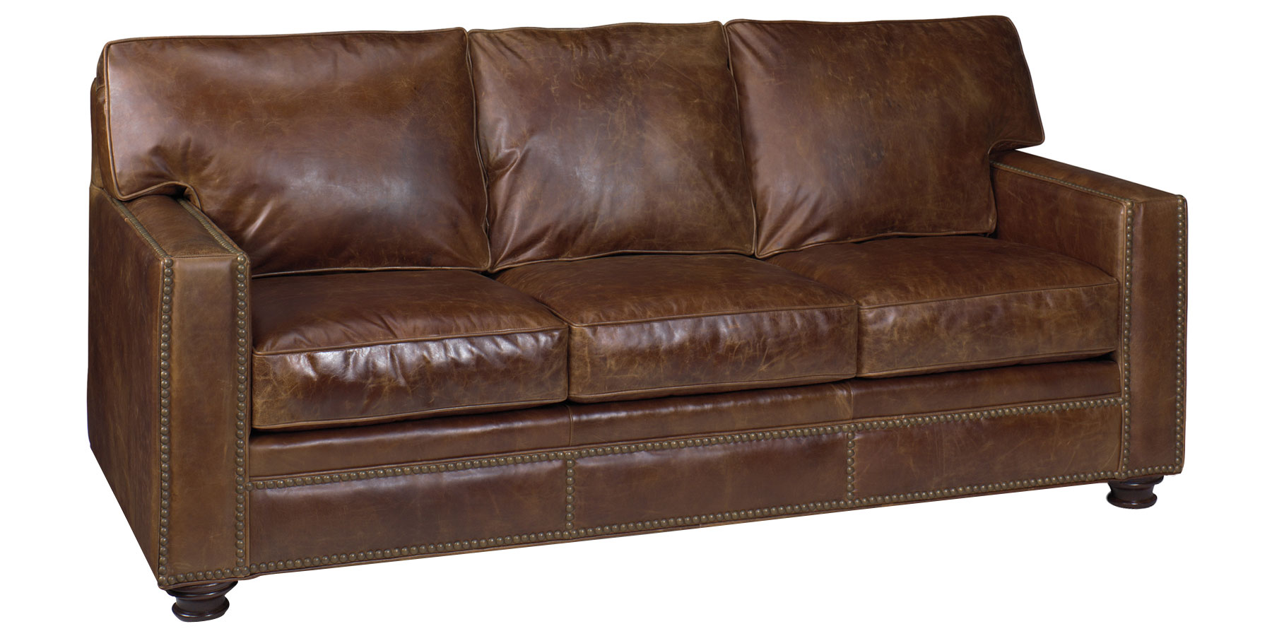 Leather Furniture Traveler Collection: Track Arm Rustic Leather Furniture Collection