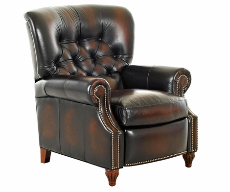 Brinkley Tufted Leather Recliner