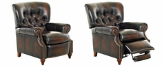 Brinkley Tufted Leather Reclining Chair