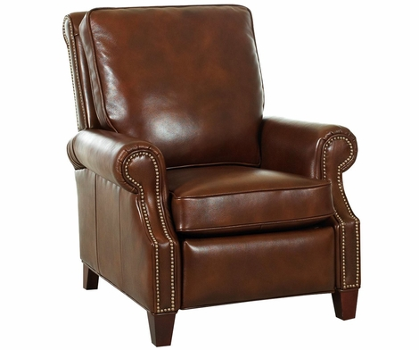 Bronson Traditional Leather Club Recliner With Nail Trim