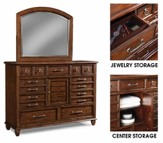 Bryson Dresser With Arched Mirror
