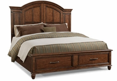 Bryson Wood Panel Storage Bed
