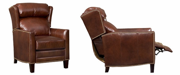 Leather Bustle Wing Back Recliner Club Furniture