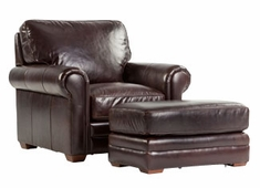 "Burgess ""Ready To Ship"" Large Leather Club Chair"