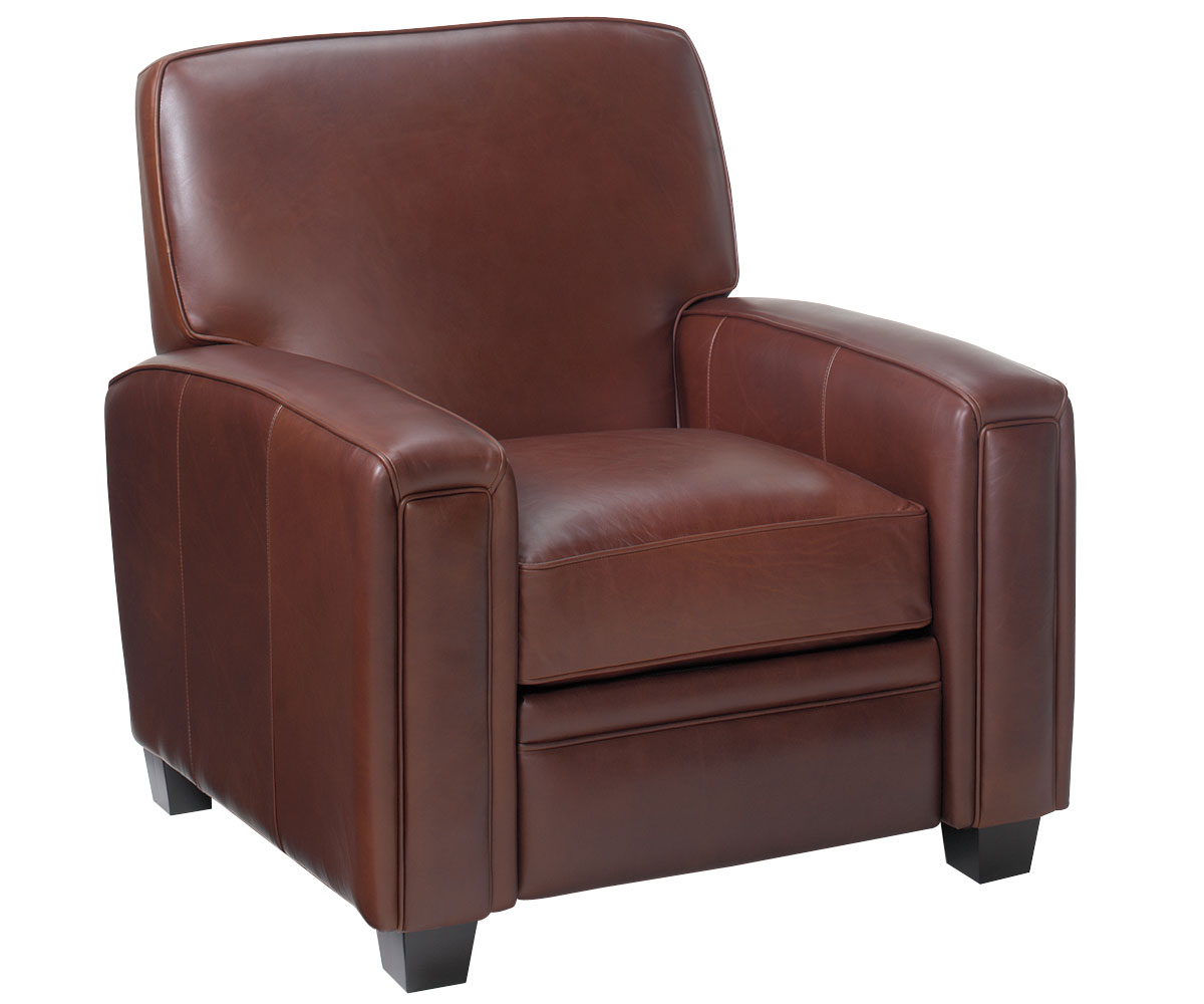 Burton Leather Sofa: Leather Living Room Recliner Chair