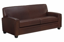 Burton Tight Back Leather Queen Sleeper Couch