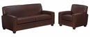 "Burton ""Designer Style"" Leather Queen Sleeper Sofa & Recliner Set"