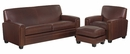 "Burton ""Designer Style"" Leather Sofa Set"
