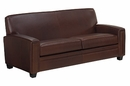 "Burton ""Designer Style"" Leather Tight Back Queen Sleeper Sofa"