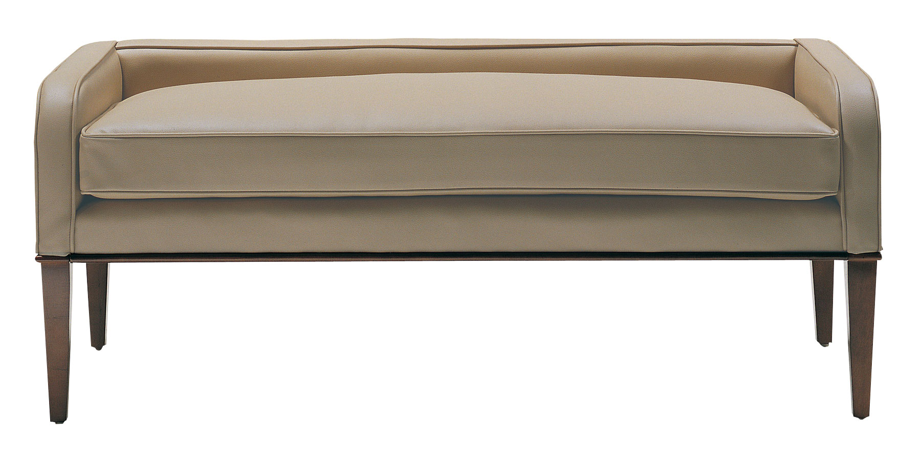 "Leander ""Designer Style"" Leather Bench - Ottomans & Benches"