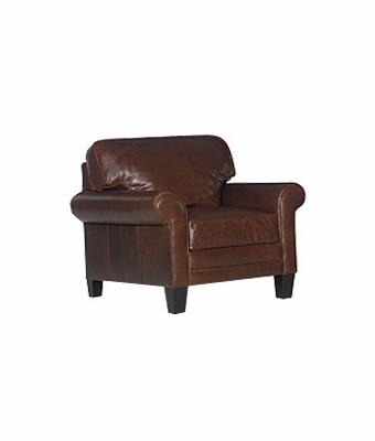 """Calvin """"Designer Style"""" Timeless Leather Club Chair"""