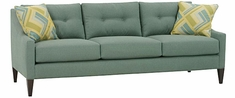 "Carly ""Designer Style"" Contemporary Button Back Fabric Sofa"
