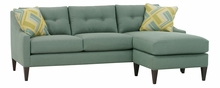 Carly Contemporary Button Back Reversible Chaise Sectional