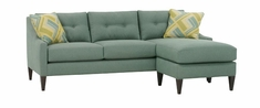 "Carly ""Designer Style"" Contemporary Couch With Chaise"