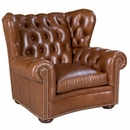 """Carmichael """"Designer Style"""" Tufted Leather Chair"""