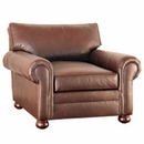 "Carrigan ""Designer Style"" Grand Scale Leather Chair"