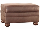 "Carrigan ""Designer Style"" Leather Ottoman"