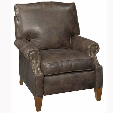 Julius Push Back Leather Reclining Chair