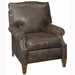 Julius Designer Style Contemporary Leather Reclining Chair