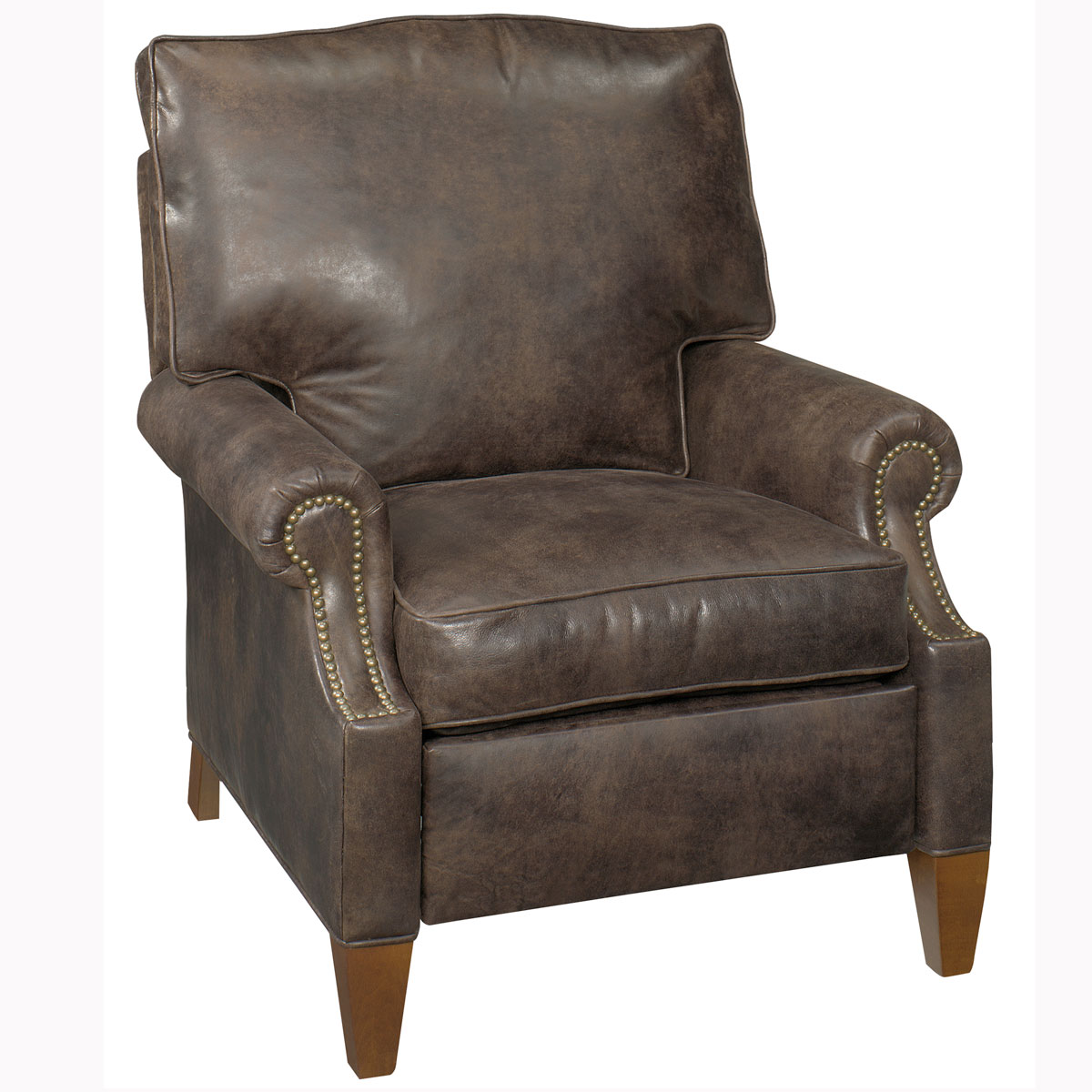 Julius Designer Style Push Back Leather Reclining Chair Leather