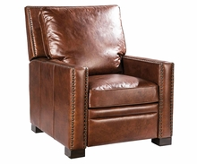 "Cassidy ""Quick Ship"" Deep Seat Track Arm Leather Recliner"