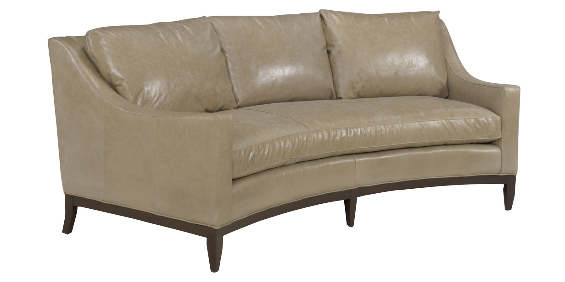 Leather Furniture gt Cedric Designer Style Curved Conversation Sofa