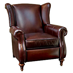 Chamberlain Leather Wingback Recliner