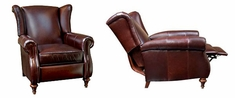 "Chamberlain ""Designer Style"" Leather Wingback Recliner"