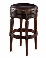 "Chapman Backless Leather ""Ready To Ship"" Swivel Bar & Counter Stool Collection"