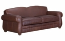 """Chelsea """"Designer Style"""" Art Deco Style Leather Club Couch"""