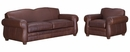 "Chelsea ""Designer Style"" Leather Sofa Set"