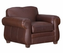 """Chelsea """"Designer Style"""" Moustache Back Leather Club Chair"""