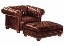 "Chesterfield ""Designer Style"" Leather Club Chair With Tufted Design"