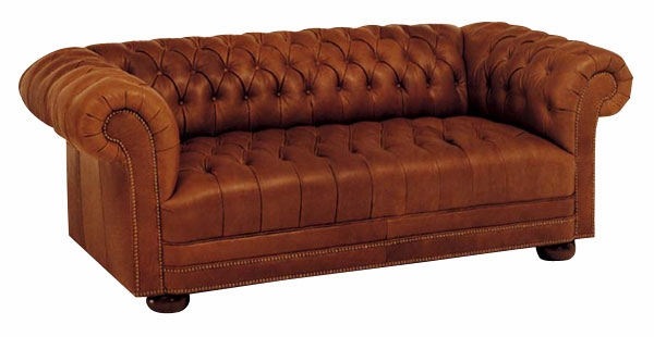 Tufted Leather Chesterfield Sleeper Sofa Club Furniture